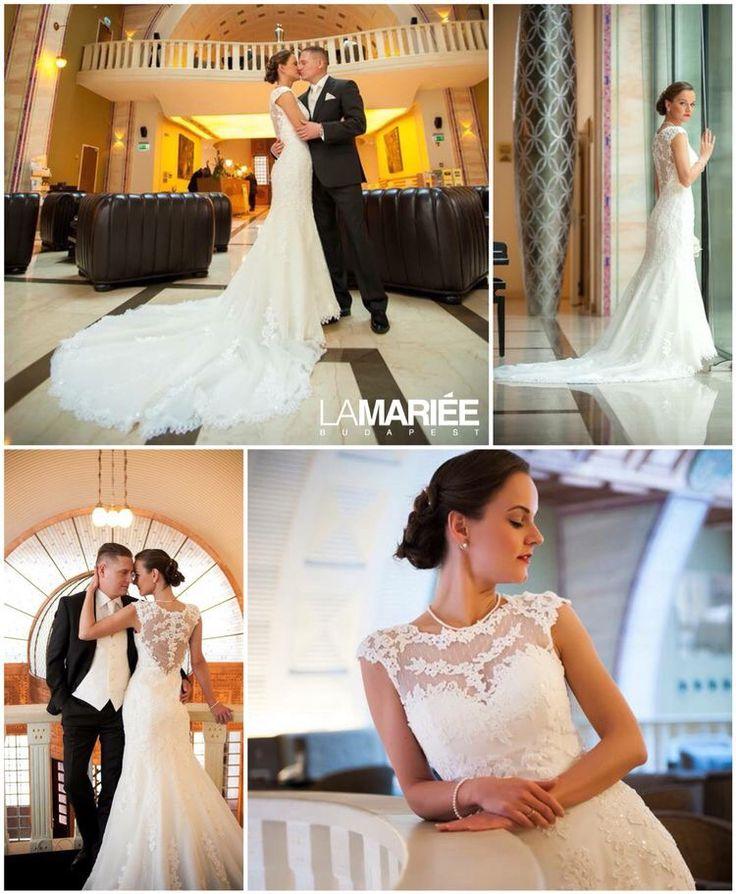 LANDEL esküvői ruha Pronovias kollekció - Mónika  menyasszonyunk http://mobile.lamariee.hu/eskuvoi-ruha/pronovias-2014/landel