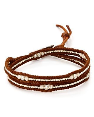 Chan Luu Beaded Leather Wrap Bracelet | Bloomingdale's