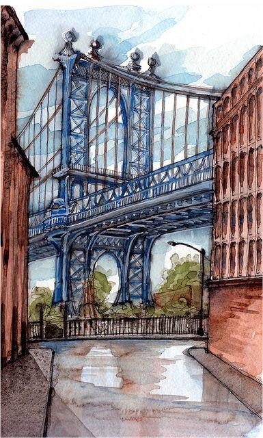 Manhattan Bridge ~ by James Anzalone