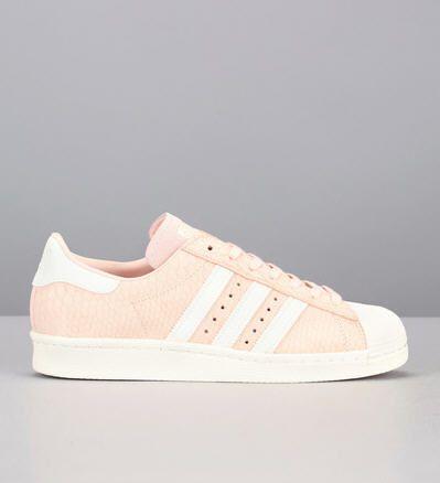 Sneakers roses reptile Superstar 80s Adidas Originals prix promo Baskets Femme Monshowroom 130.00 €