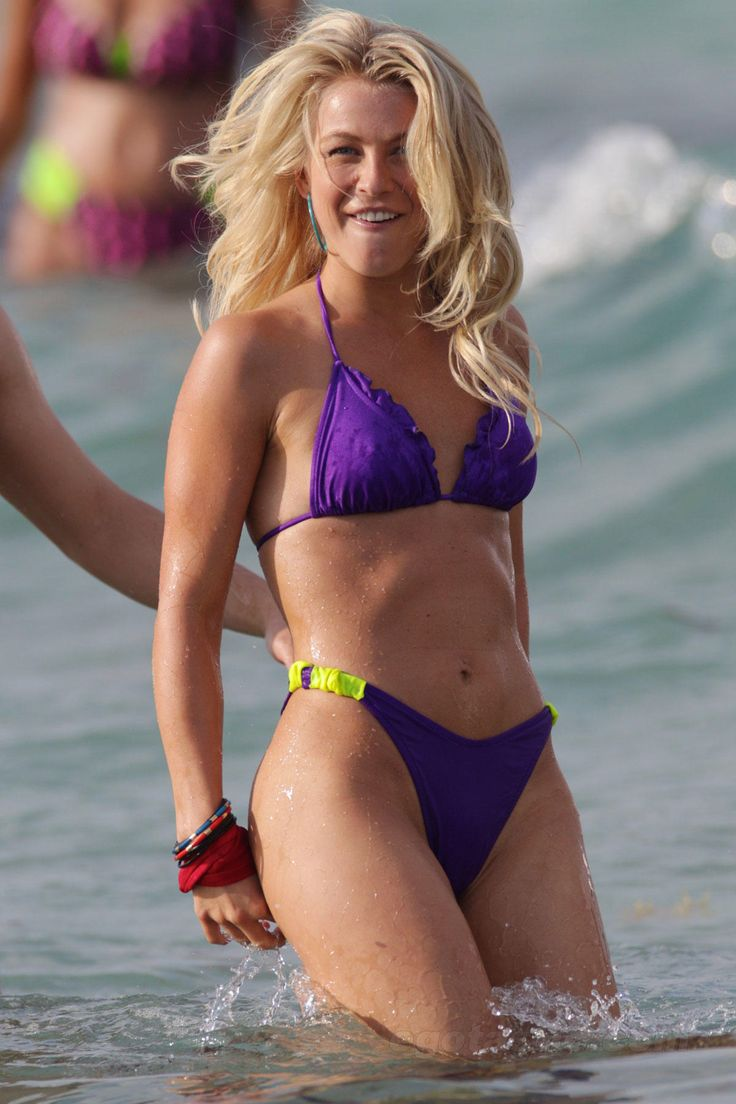 Julianne Hough Purple Bikini Pictures Will Rock Your World -7429