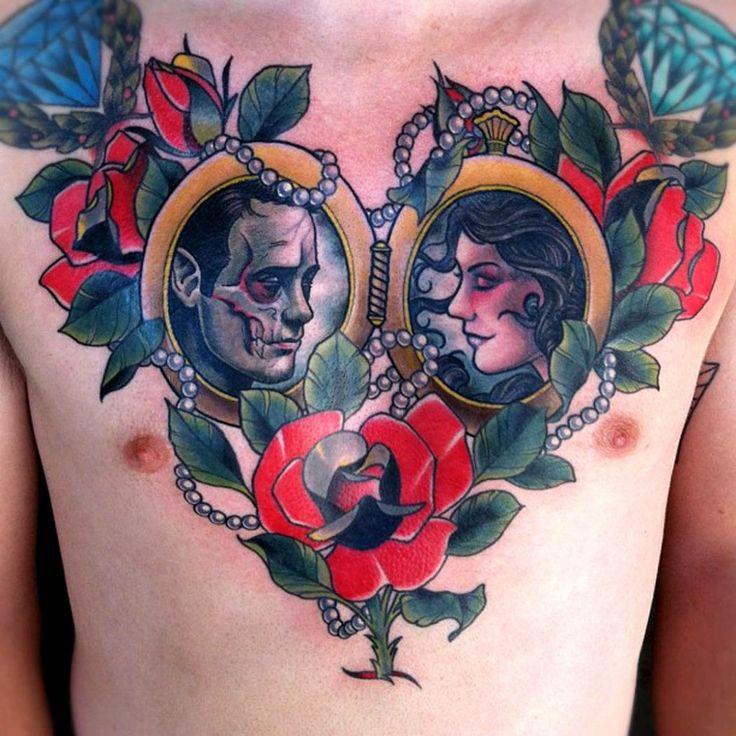 Татуировки на груди | 540 photos