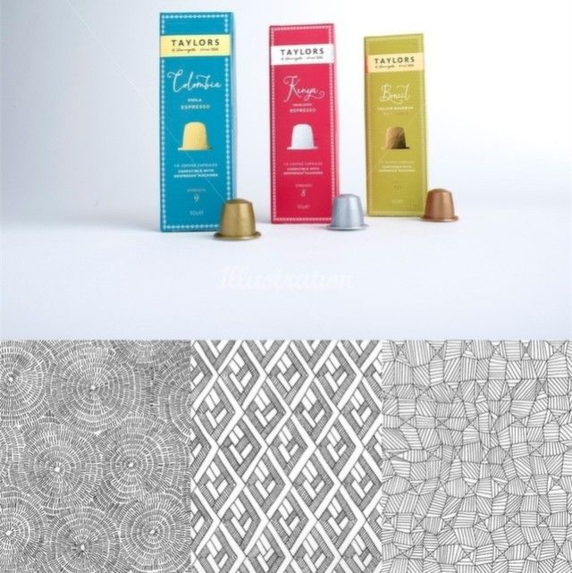 Fantastic coffee capsule packaging for Taylors of Harrogate by Nina Hunter. The…