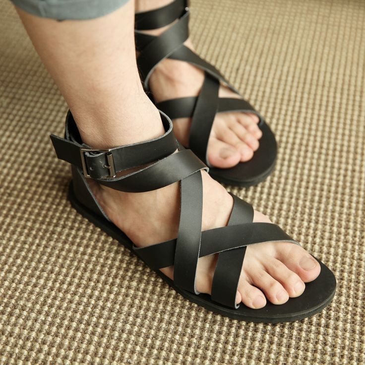 Aliexpress.com : Buy 1860 Big fashion genuine leather  full vintage sandals gladiator sandals for men  from Reliable men leather sole sandals suppliers on China's men's wear. $39.69