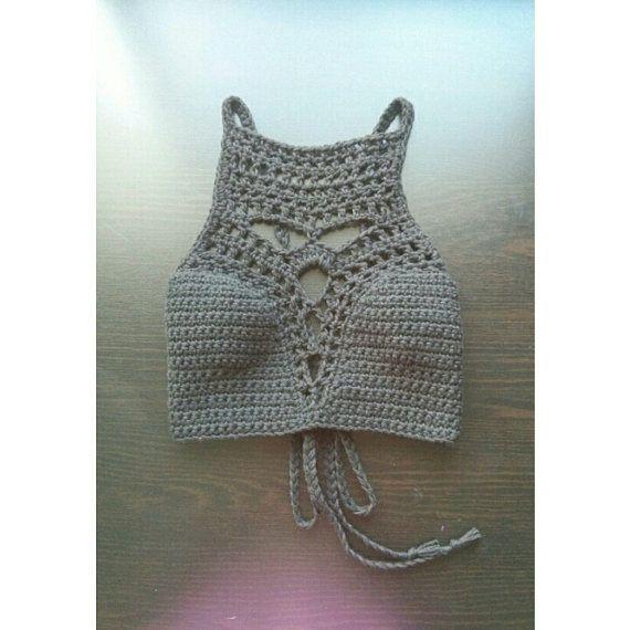 Paradise Deep V - Crochet Crop Top - on Etsy, $70.00