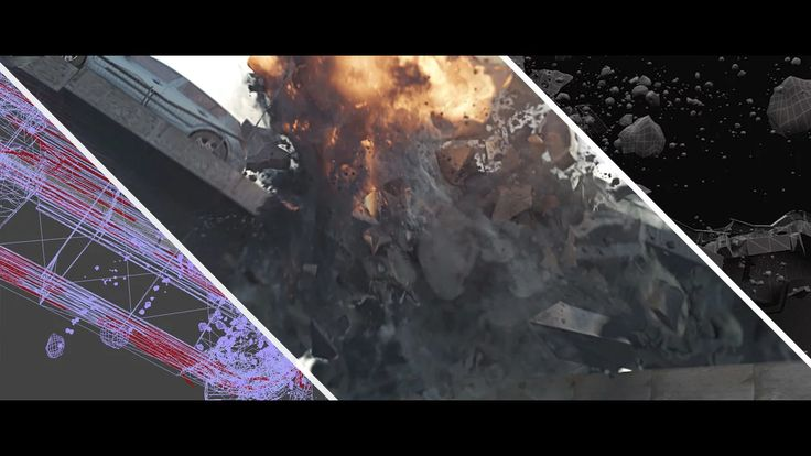 """This is the breakdown to the collapsing bridge shot of the student project """"Das Duell"""". All done (except car modeling) by the VFX hobbyist Delano Osterbrauck…"""