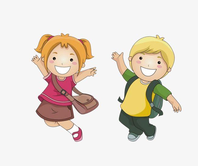 الحقائب المدرسية في المدارس الابتدائية تلميذ الذهاب إلى المدرسة المدرسة Png وملف Psd للتحميل مجانا School Bags School Clipart Bags