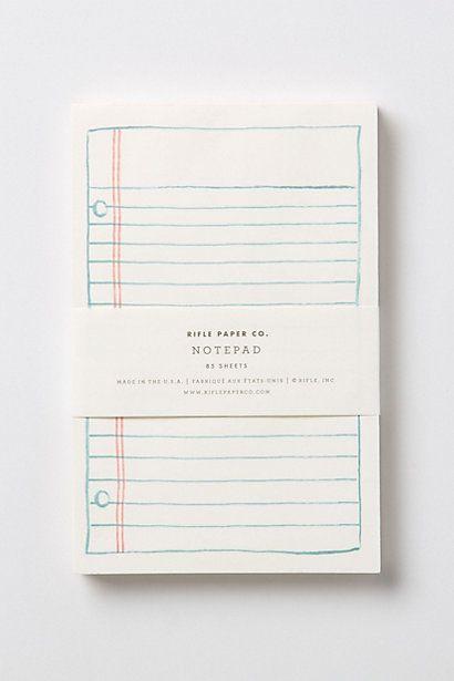 Anthropologie Schoolyard Notebook