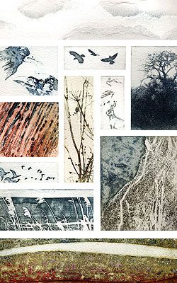 A Walk in Norfolk - Kerry Buck - Collagraph and photopolymer