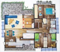 rendered floor plans - Google Search