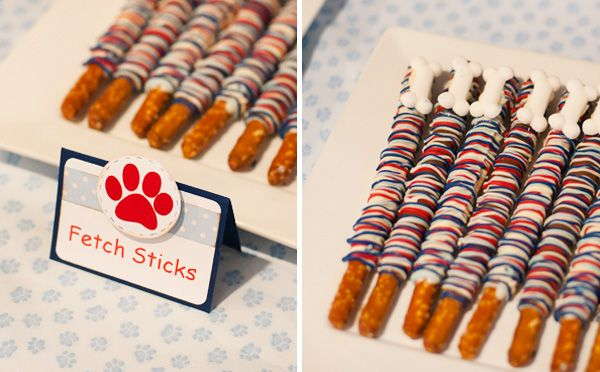 dog theme party food | Polka Dot Puppy Pawty {2nd Birthday} // Hostess with the Mostess®