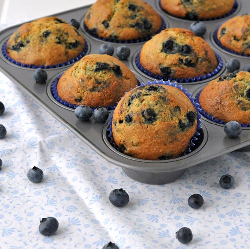 Banana Blueberry Muffins ~ The Way to His Heart