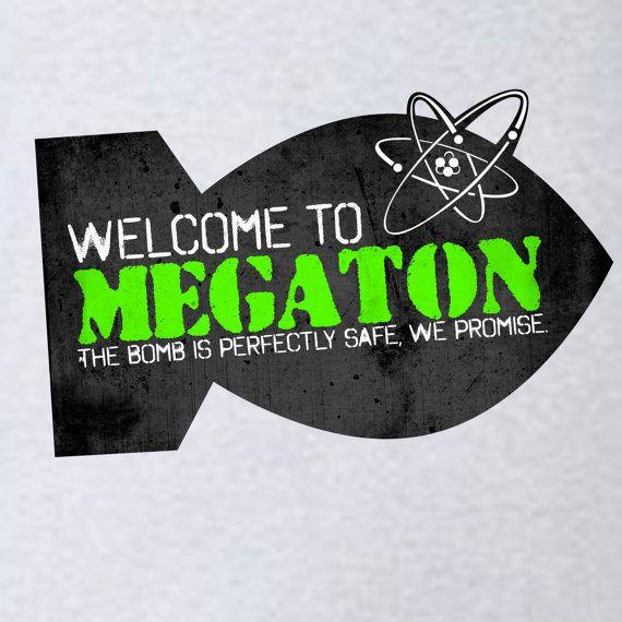Fallout 3 Megaton Souvenir Tee by GeekyPrintsandMore on Etsy, $24.95