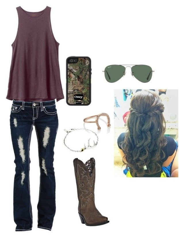 """""""In my head"""" by itsyagirlhar on Polyvore featuring RVCA, Aamaya by Priyanka, Dan Post, Elizabeth and James and Ray-Ban"""