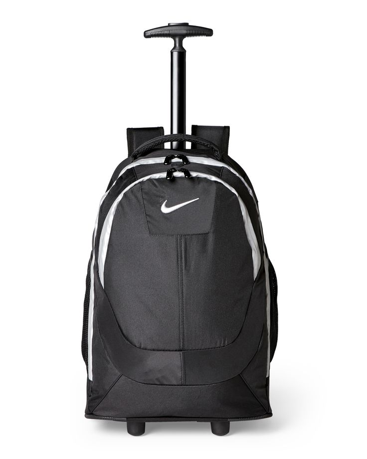 Nike Black & Silver Wheeled Backpack