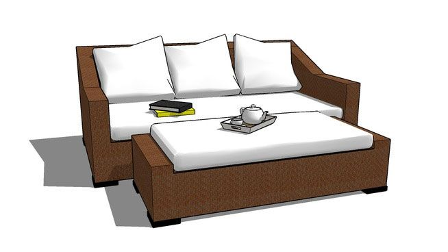 Fantastic Brilliant Outdoor Sleeper Sofa Sketchup Components 3D Uwap Interior Chair Design Uwaporg
