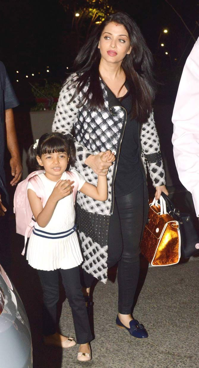 Aishwarya Rai Bachchan leaving for Cannes Film Festival 2016 with daughter Aaradhya. #Bollywood #Fashion #Style #Beauty #Hot