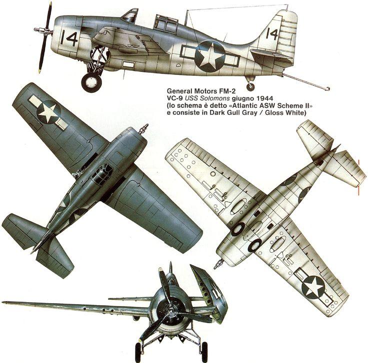 Grumman F4F Wildcat   USA   VC-9, US Navy   FM-2   14