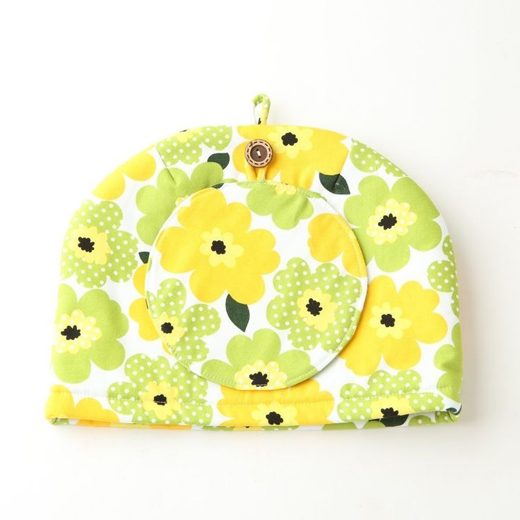 Northern European Style Yellow Green Flowered Cotton Cloth Tea Cozy with Teapot Coaster Handmade by Japanese Craftsman Yellow Green 11.02X7.87 Inch Made in Japan -- Continue to the product at the image link.