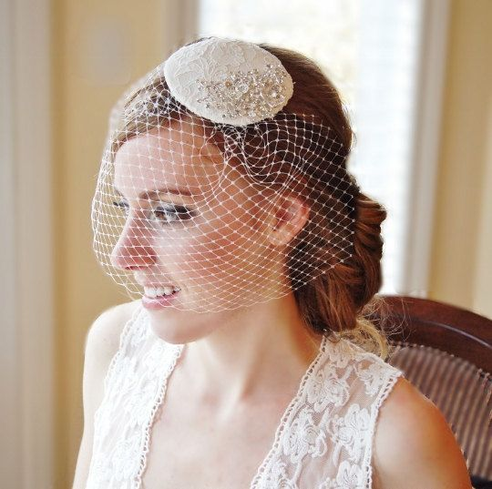 Bridal Hat Vintage Inspired French Lace by FleursdeParis on Etsy, $98.00