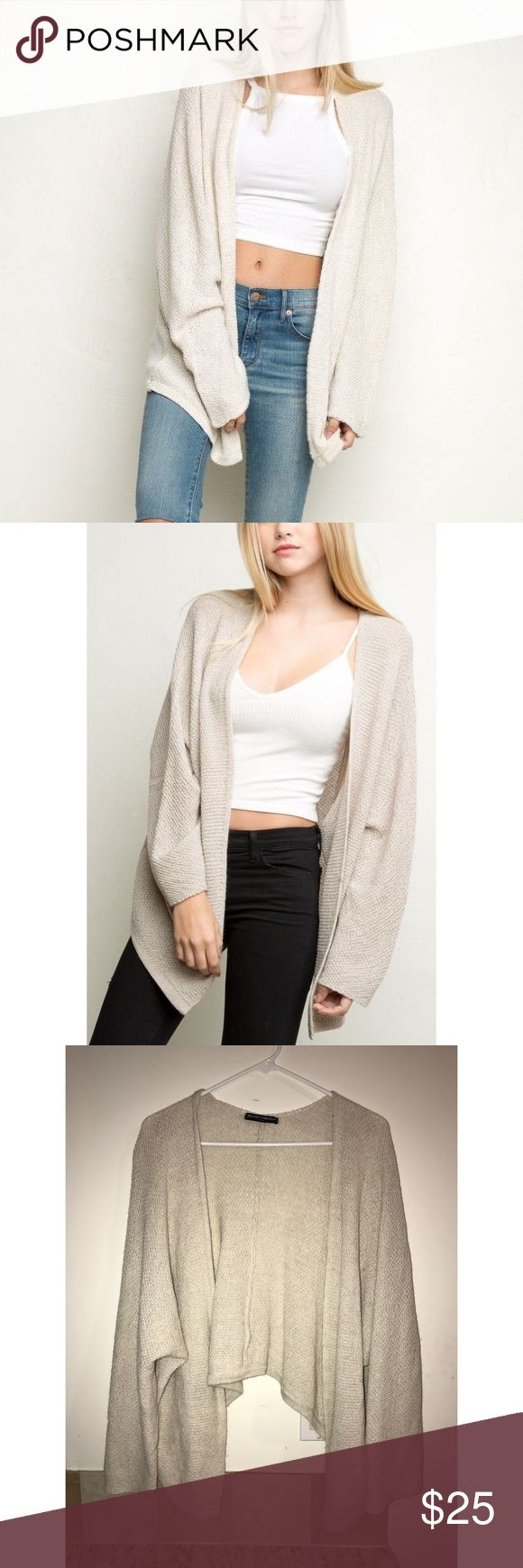 Brandy Melville Cardigan Soft and cozy 😍 it is an oversized small, so could fit over sizes just depends on how you like to fit. Brandy Melville Sweaters Cardigans