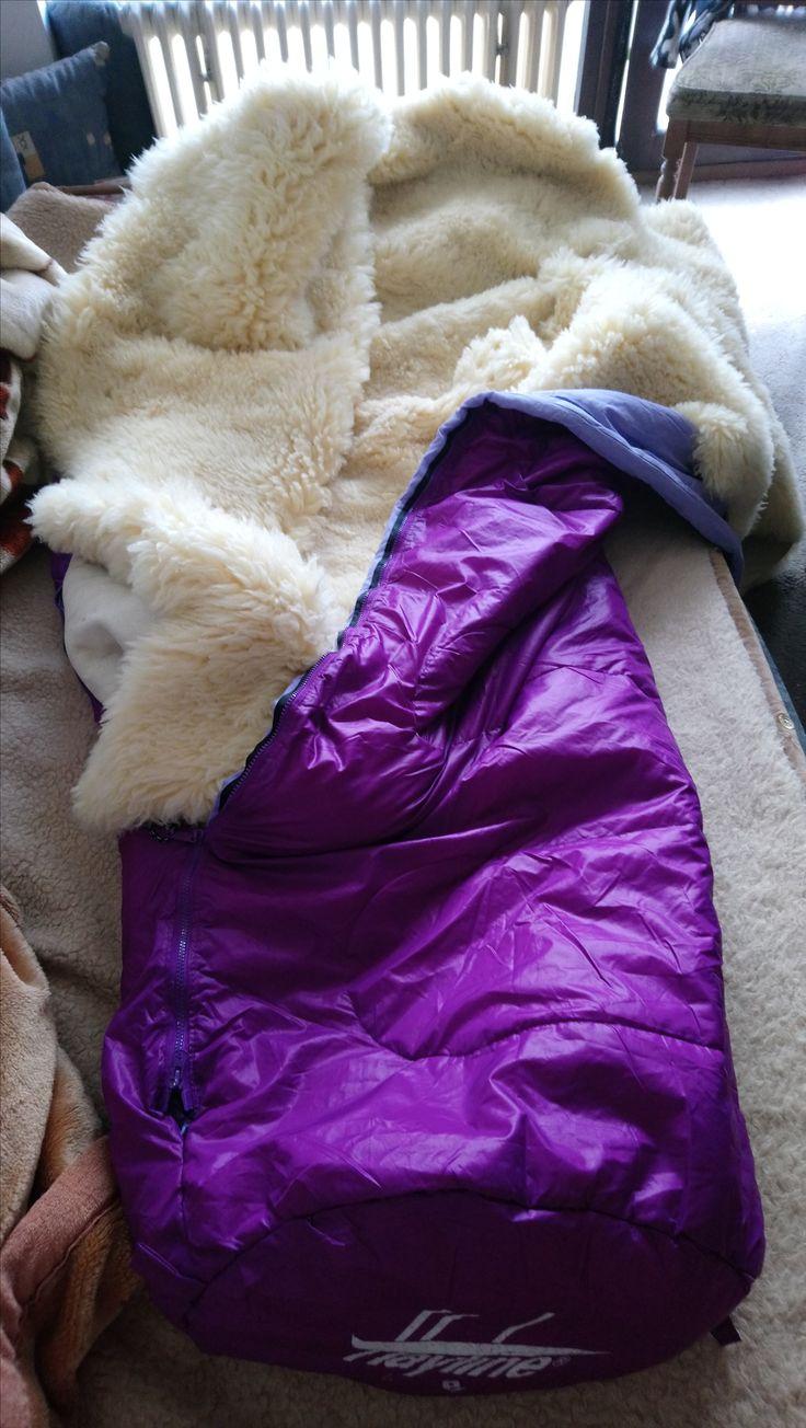 pelzdeckenschlafsack