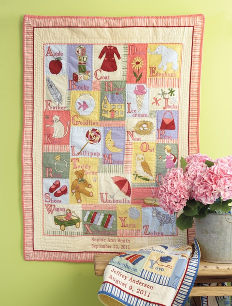 39 best quilt gallery alphabets images on pinterest alphabet alphabet quilt personalized baby giftspersonalized negle Image collections