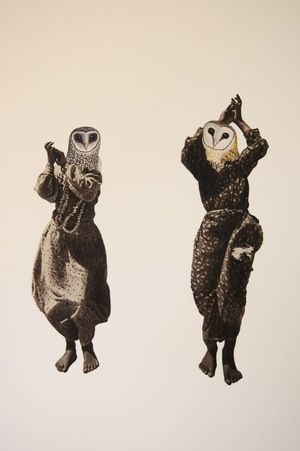 Lucy James dancing with ghosts 2012, collage on paper