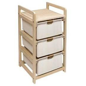 Badger Basket Hamper 3 Drawer Storage Unit - Natural : Target