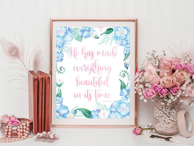 Scripture Quote Print - Bible Verse Art - Inspirational Quote Art - Bible Verse Print - Religious Quote - Digital Download - Christian Art by SmudgeCreativeDesign on Etsy