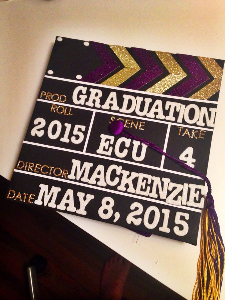 Film slate graduation cap