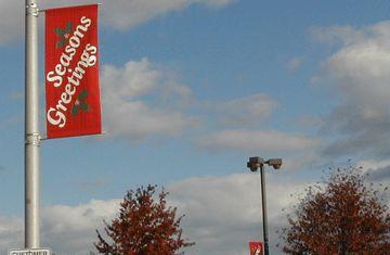 #Holiday Pole Banner www.speedproeastpa.com