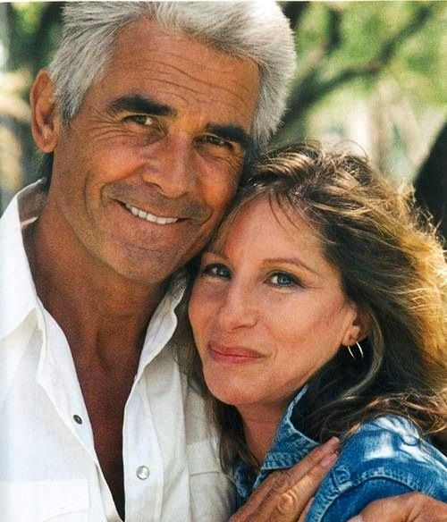Barbra Streisand and James Brolin-great pic, damn he is fine, all silver foxy