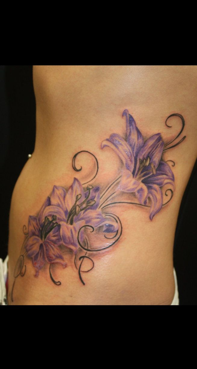 Purple Lily Tattoos Purple lily ta