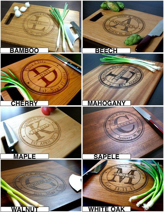 Personalized Cutting Board Custom Engraved by TaylorCraftsEngraved