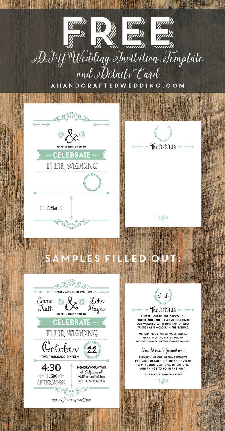 FREE Printable Wedding Invitation Template 39 best