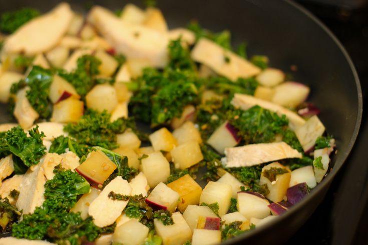 Lemon Garlic Kale & Kohlrabi - Wild Rose Detox (D-Tox) Cleanse [gluten-free, egg-free, dairy-free]