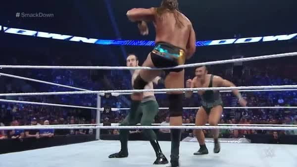 Big Colin Cassady keeps gettin' it done for Enzo... #SmackDown  WWE SmackDown rolls on NOW!