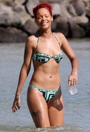 Rihanna's Workout Routine. She has two trainers! Like damn girl! I just have my mother haha