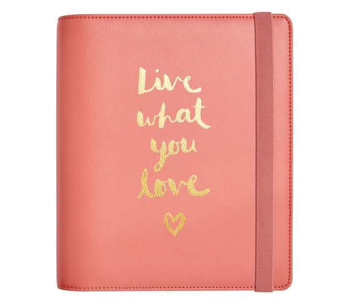 2016 LEATHER TIME PLANNER LARGE: WATERMELON