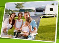Familien Camping mit Wohnwagen