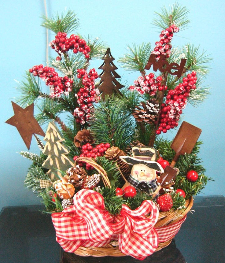Country Christmas Party Ideas Part - 50: Country Christmas Basket