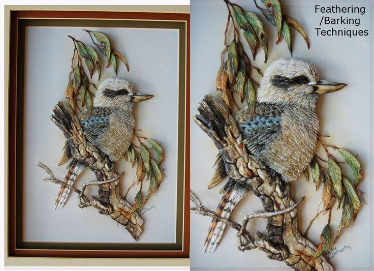 Kookaburra On A Branch Papertole Pinterest Paper
