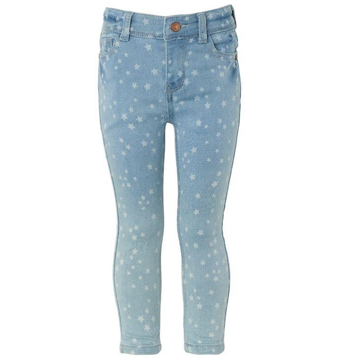 NIEUW lente 2016 (geen korting) Hippe skinny jeans met sterren van Noppies. Zachte & comfortabelebroek met verstelbare rekjes binnenin.  Merk: Noppies Kleur: Denim