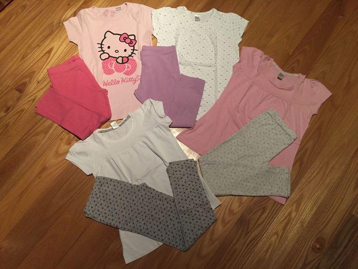 Girls Short Sleeve Pajamas Lot 4 Prs Zara/Hello Kitty 8/9 yrs  | eBay