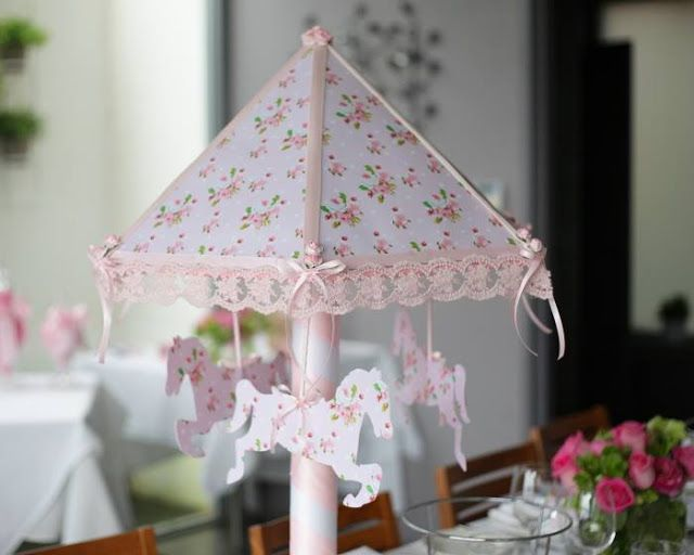Pink Carousel Themed Christening Party
