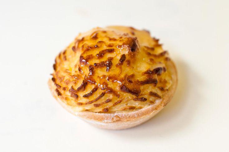 Canastilla de coco y crema (Tartaleta de pasta sable con crema pastelera y coco)