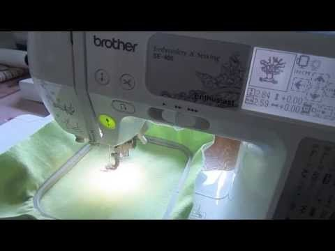 This embroidery tutorial, Brother SE400 Embroidery Set Up (Part Two), will show you how to select your embroidery designs from either the machine or the comp...