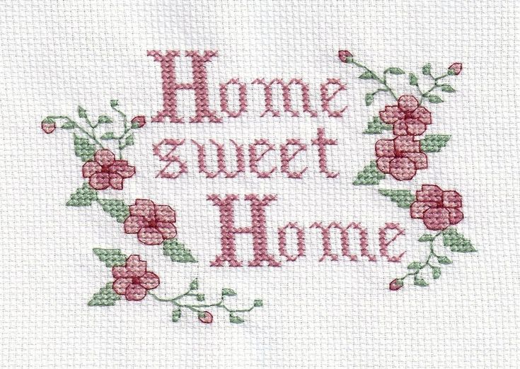 Completed Cross Stitch Home Sweet Home