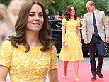 Kate Middleton wears gold of the German flag for lab visit | Daily Mail Online